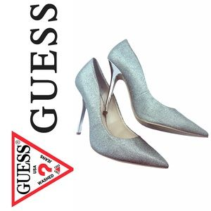 GUESS Silver stiletto high heels